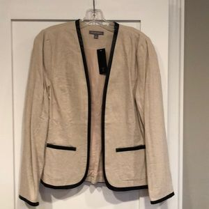 Tinsley Road Linen Blend Contrast Trim Jacket , M